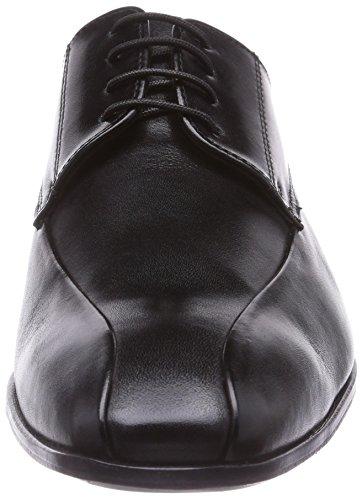 Manz Granada, Herren Derby Schnürhalbschuhe Schwarz (schwarz 001)