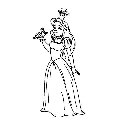 JXAA Hochwertige Märchenfigur Kinderzimmer Wanddekoration Frosch und Prinzessin Wandaufkleber für Mädchen Roo 59x122cm