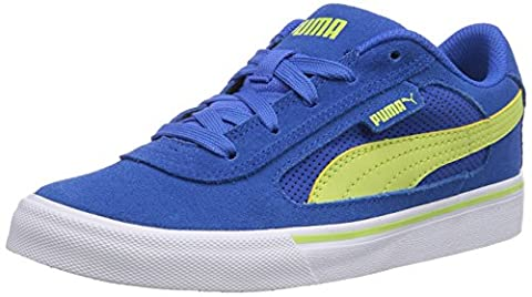 Puma Puma S Evolution Jr, Unisex-Kinder Sneakers, Blau (strong blue-sharp green 08), 34 EU (1.5 Kinder UK)