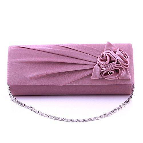 Le Nuove Donne Del Sacchetto Di Rose Fiori Signore Sacchetto Wedding Bag Banchetto Borsa Da Sera Violet