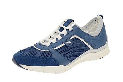 Geox D L SUKIE D52F2B 01443 C4008 donna laccio semi scarpa sportiva d'acero, Blu (Blu (Blu)), 40