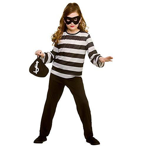 Kostüm Und Weiß Schwarz Räuber - Unbekannt Schwarz-Weiß-Räuber-Kostüm für Kinder