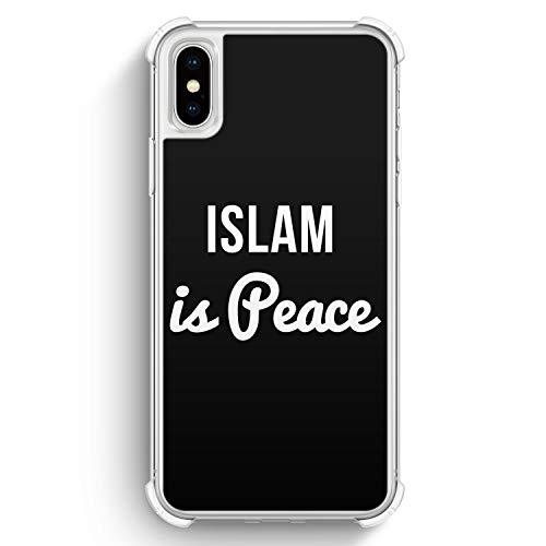 Islam is Peace - iPhone XS Max Bumper Transparent Silikon Rundumschutz Hülle Cover - Motiv Design Spruch Islam Schön Muslimisch - Handyhülle Schutzhülle Case Schale