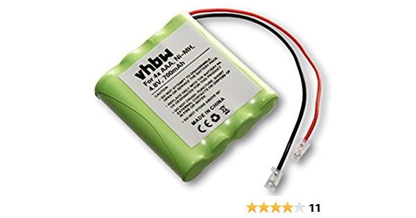 Vhbw Battery Pack 700 Mah 4 8 V Nimh Universal Battery Elektronik