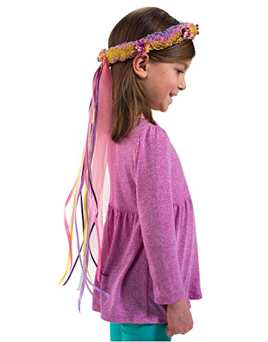 81Fairy Rainbow mit Blumen Krone (One Size) (Dress Up Fairy)