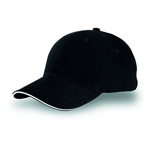 cappellino-cappello-berretto-bicolore-con-visiera-baseball-golf-nero