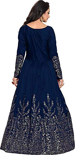 Queen of India affeta Silk Embroidered Semi-Stitched Anarkali Gown | womens party wear | Today preminum new gowns | new design collection 2018 | new design dress 2