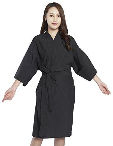 Bata de peluquería para cliente estilo kimono