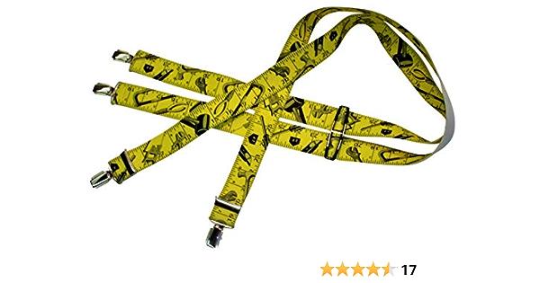 Xeira Unisex Hochwertige Hosentr/äger Y-Form mit 3 stabilen Clips lustige Motiven 35mm Breit f/ür Damen und Herren