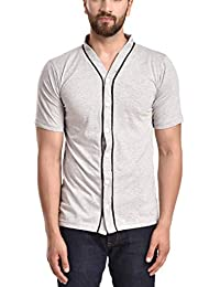 2a7f4634def6a PAUSE V Neck Solid Cotton Slim Fit Short Sleeve Men s Knitted Shirt(Small  Black-