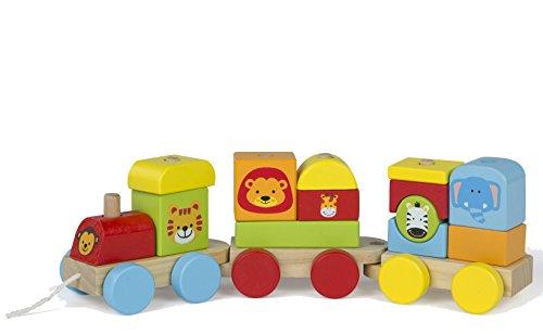 ColorBaby - Tren de madera Animales - 16 piezas (43608)