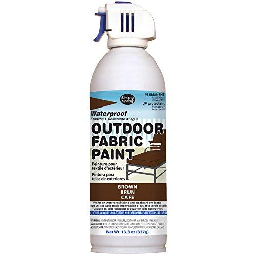 Deval Produkte Outdoor Spray Stoff, Acryl, Lack braun, 13,3oz