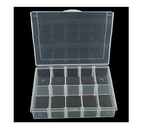 Perlenbox Perlen Box Sortierbox mit 10 Fächer Bastelzubehör Sortierkasten B32 (Weihnachten Acryl Nail Art)