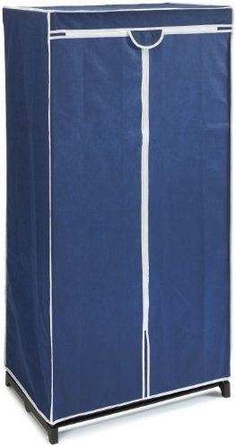 WENKO 4381630100 Kleiderschrank Air, 100 % Polypropylen, 75 x 150 x 50 cm, Blau