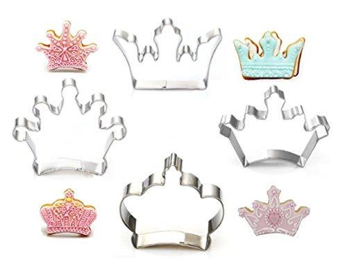 Krone König Königin Prinz Prinzessin Formen Edelstahl Cookie Cutter Fondant Cutter (Brownie-cutter)