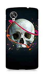 Amez designer printed 3d premium high quality back case cover for LG Nexus 5 (Skull lines vector confetti arrows)