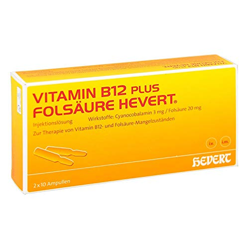 Vitamin B12-Hevert plus Folsäure-Hevert, 10 St. Portionen