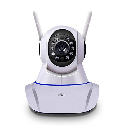 Yoosee CCTV Indoor HD 720P (Two Way Audio, Dual Antenna) Wireless Plug and Play IP Camera with Night Vision Up to 10 Mtr., Super Wide 360 Degree Viewing Angle, PIR Motion Detection, and More