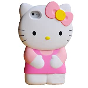 """Récent 3D hello Kitty iPhone 4S/4G/4 Silicon dur Case/Cover/Faceplate/Protector-Pink- """"Perfect Edition"""""""