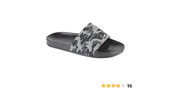 Mens Sliders Shoes Summer Holiday Beach Pool Shower Sandals Flip Flops Soft Comfortable Casual Walking Flat Open Toe Lightweight Slippers Mules Size 6-12