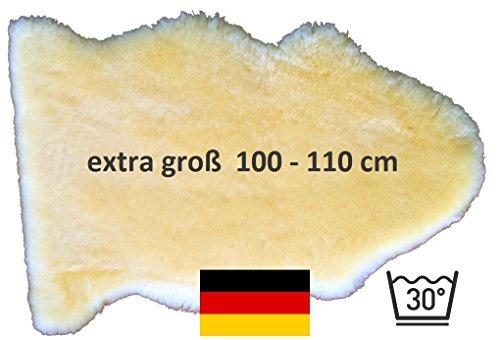 *** unser Bestseller: LANABEST XXL, extra großes medizinisches Merino Lammfell in Premium-Qualität. In Deutschland hergestellt. Dichtes Fell, zart, wohl-riechend, 30 Grad waschbar. Größe ca.100cm