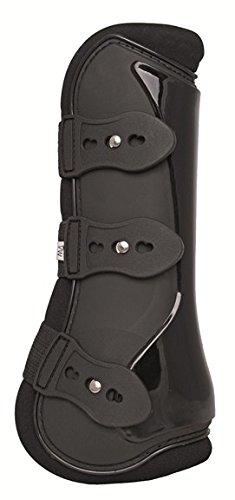 HKM 544905 HKM Gamaschen und Streichkappen, 4er Set - New - Warmblut, schwarz/schwarz
