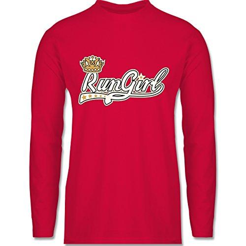 Laufsport - Run Girl Krone - Longsleeve / langärmeliges T-Shirt für Herren Rot