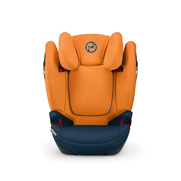 CYBEX Gold Solution S-Fix Child's Car Seat, For Cars with and without ISOFIX, Group 2/3 (15-36 kg), From approx. 3 to approx. 12 years, Urban Black  Sturdy and high-quality child car seat with long service life - For children aged approx. 3 to approx. 12 years (15-36 kg), Suitable for cars with and without ISOFIX Maximum safety - Built-in side impact protection (L.S.P. System), 3-way adjustable headrest, Energy-absorbing shell 12-way adjustable, comfortable headrest, Adjustable backrest, Extra wide and deep seat cushion, Ventilation system 7