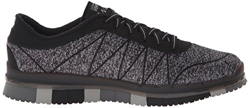 Skechers Go Flex Ability, Baskets Basses Femme Noir (Noir/Gris)