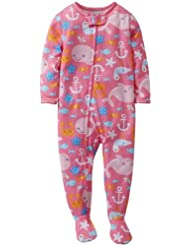 Carter's Baby Girls' 1 Piece Printed Footie (Baby) - Whale - 24 Months Color: Whale Size: 24 Months (Baby/Babe/Infant - Little ones)