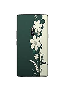 Back Cover for OnePlus Two GREEN FLORAL
