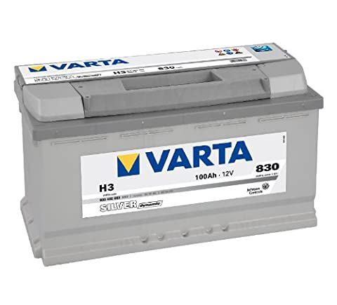 Varta 6004020833162 Silver Dynamic H3 Batterie de voiture12V 100mAh 830A