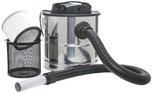 KaminoFlam Aschesauger Kamin - Aschestaubsauger mit Motor - Kaminsauger mit Edelstahl Behälter, 18 l - Asche Staubsauger mit starkem Filter - 1000 W