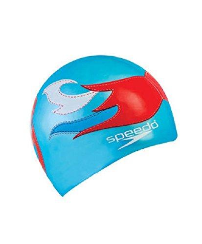 Speedo Flat SILC CAP AU Cuffia, Blu (Blue Luchadore), Taglia Unica