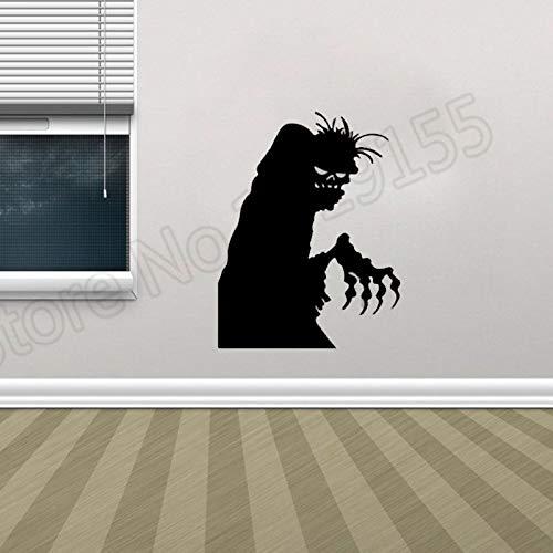 zhuziji Yoyoyu Halloween Kreative Geister Wandaufkleber Vinyl Muster Wandaufkleber Dekoration Urlaub Halloweens Eve D 42x33 cm
