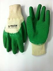 Falcon FPHG-37 Rubber Garden Gloves (Green/White)