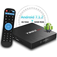 T95Z Max Android TV BOX, 3GB RAM 32GB ROM Android 7.1.2 Amlogic S912 Octa Core 64 bit A53 Processore scatola smart tv 4K Risoluzione 2.4GHz/5GHz Dual Band WiFi 1000 Lan Ethernet Bluetooth 4.0