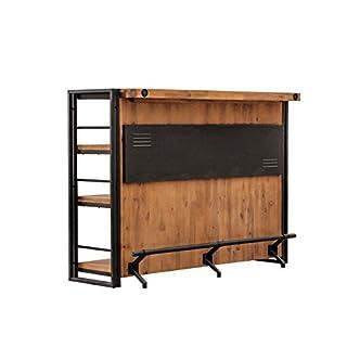 Bar Design Style Industriel & Atelier Métal et Bois d'acacia Massif/Facture et Finitions soignées – Collection Workshop