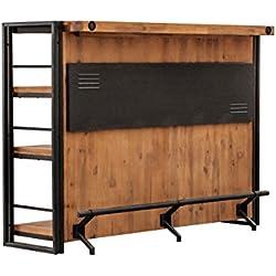 Bar Design Style Industriel & Atelier Métal et Bois d'acacia Massif/Facture et Finitions soignées - Collection Workshop