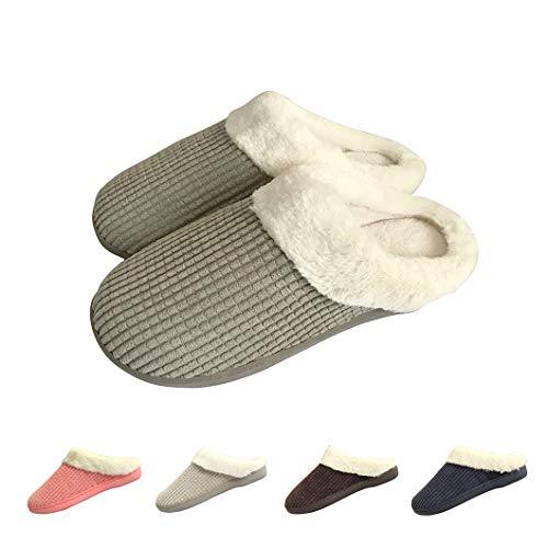 Zapatillas Casa Mujer Hombre Invierno Calido Zapatillas