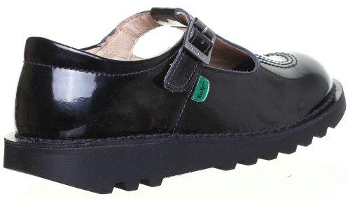 Véritable Original Kickers Kickers Lo Femmes rentrée scolaire Chaussures Vernies Motif Noir BP