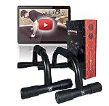 Playmakers Liegestützgriffe für Liegestütze mit ergonomischen Griffe - Zubehör für Fitness und Krafttraining der Brust - Push Up Training