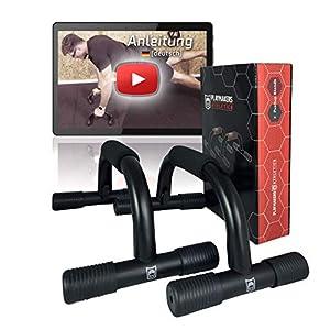 Playmakers Liegestützgriffe für Liegestütze mit ergonomischen Griffe – Zubehör für Fitness und Krafttraining der Brust – Push Up Training
