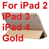 Opaque Soft Material Sleep Wake Up Holder Protective Cover Case For Ipad Mini 1 2 3 4 For Ipad 2 3 4,For Ipad 2 3 4 Gold