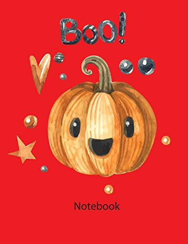 notebook: Notebook Happy halloween Boo red color 8.5x11 110page (This Notebook Happy halloween Boo red color.  There is ample room inside for writing ... 11