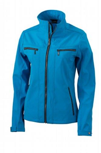 James & Nicholson Damen Jacke Softshelljacke Ladies' Tailored Jacket türkis (turquoise) Medium