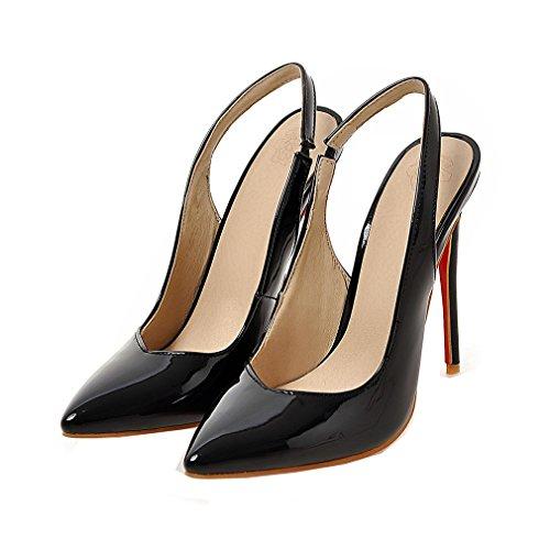 c0ca6ac9d99578 ENMAYER Womens Lack Slingback Stiletto High Heels Spitz Zehe Pumps Büro  Schuhe Schwarz 40 ...