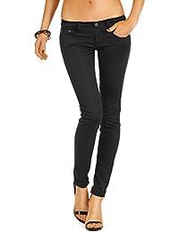 Bestyledberlin Damen Jeans, Basic Skinnyjeans, Schmale Stretch Jeanshosen j71e