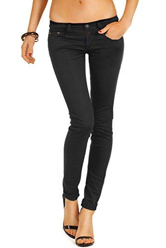 Bestyledberlin Damen Jeanshosen, Skinny Jeans j71e 36/S schwarz (Schwarze Skinny Jeans Größe 12)