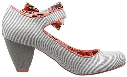 Ruby Shoo Piper Damen Pumps Beige (Stripe/Coral)